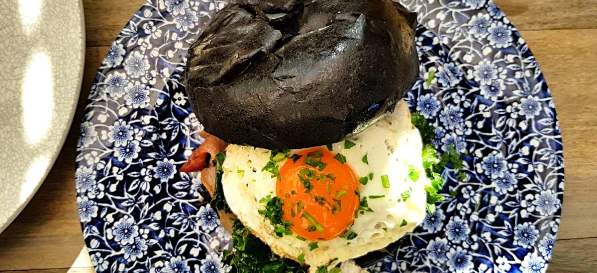 Ristretto & Co Bacon and Egg Charcoal Brioche, interesting and full of personality. Definitely a must try at Ristretto & Co